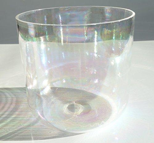 CVNC Cuenco de cristal de cuarzo transparente de 25 cm + un mazo de gamuza y una junta tórica de goma (nota F#)