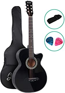38 Inch Acoustic Guitar Wooden Classical Guitar ALPHA – Black