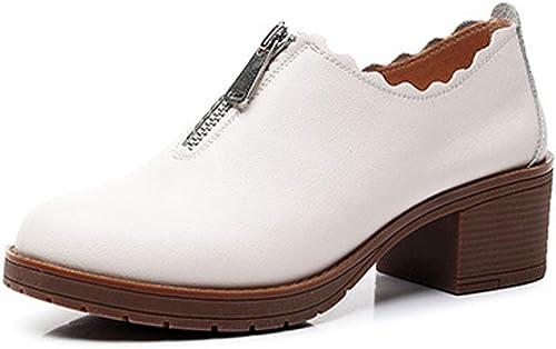 Mujer Casual Solos zapatos Cabeza rojoonda Baja Ayuda Transpirable Forro Alta Calidad Cuero Boda Casual Elegantes Work Estudiante Retro Estilo BritáNico