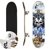 Laiozyen Planche à roulettes Skateboard pour Les Enfants, Jeunes et Adultes avec des roulements à...