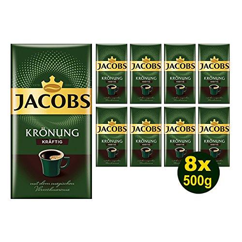 Jacobs KRÖNUNG KRÄFTIG gemahlen 8x 500g (4000g) - Jacobs Filterkaffee, Kaffee