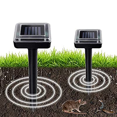 Aogist 2 Pack Waterproof Solar Powered Spike fo...