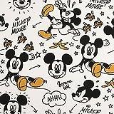 BAUMWOLLSTOFF 2125 Mickey Mouse & die Bananenschale  