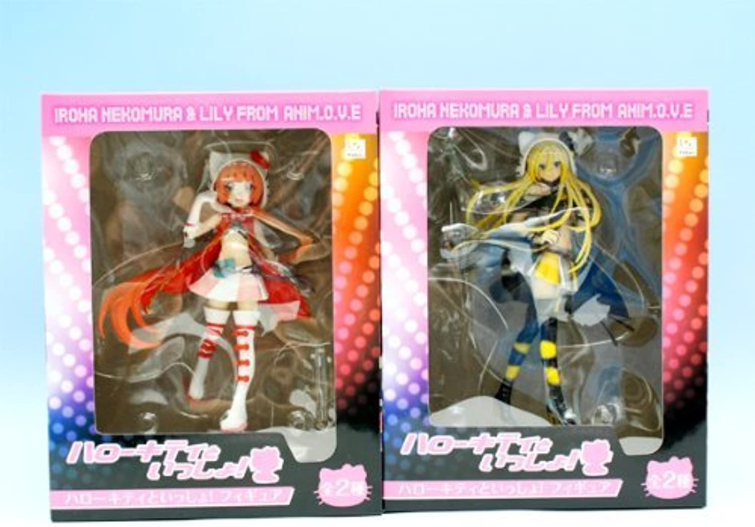 Hello Kitty to Issho  Figure character prize Fleurs (with all two full set + Poster bonus)