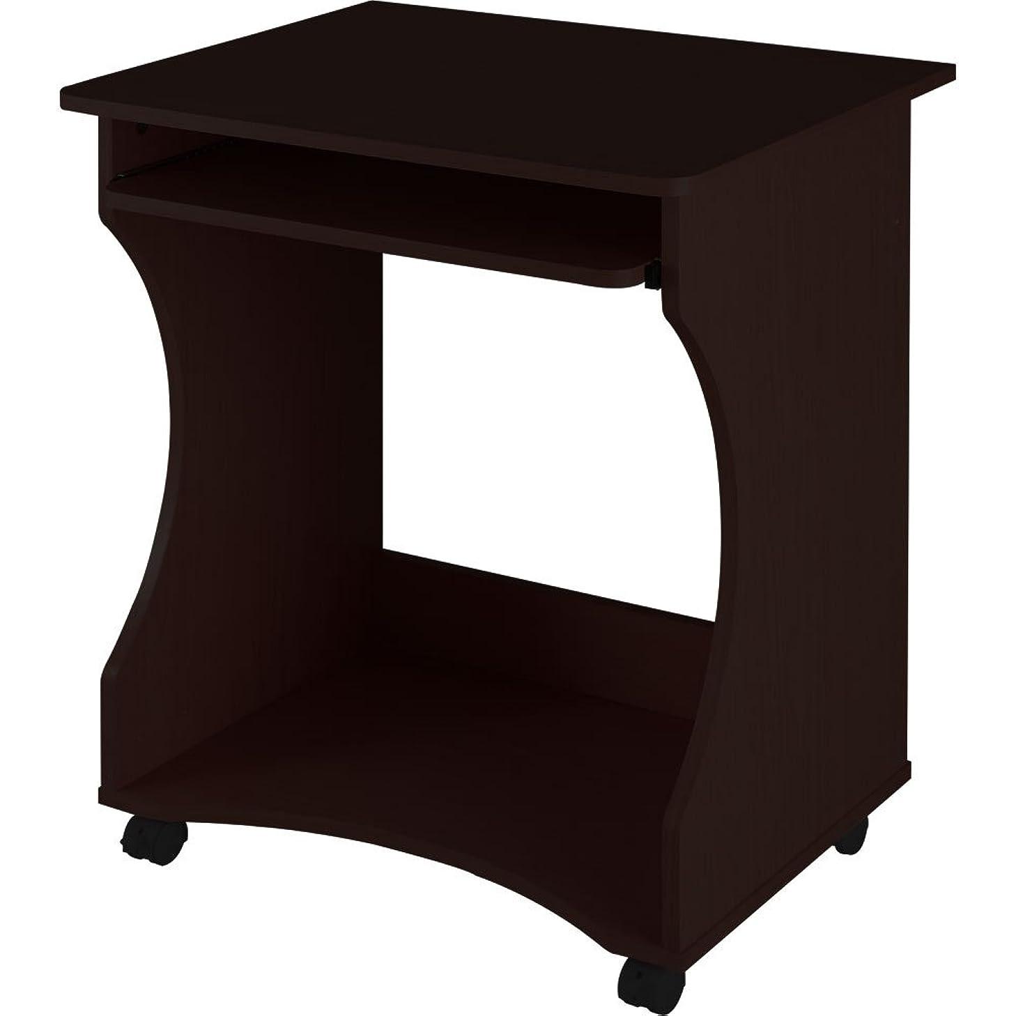 特権的受益者失望ぼん家具 PCデスク パソコンラック プリンター台 キャスター付 木製 幅60cm ダークブラウン