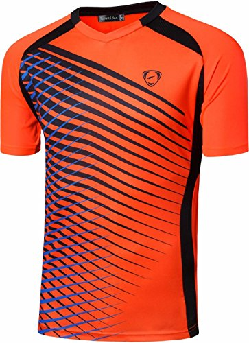 Sportides Big Boy's Quick Dry Active Sport Short Sleeve Breathable Tshirts T-Shirts Tees Tops LBS708 Orange M