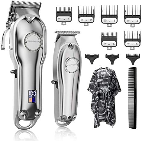 Hair Clippers for Men SUPRENT Cordless Hair Cutting Kit T Blade Trimmer Kit Professional Barber product image