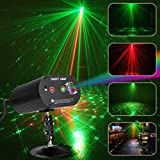 AZIMOM LED Party light DJ Disco Stage Sound Activated Strobe light 36 Patterns 3Lens led Projector for Party Christmas Halloween Birthday Wedding Karaoke KTV Club Indoor Decoration
