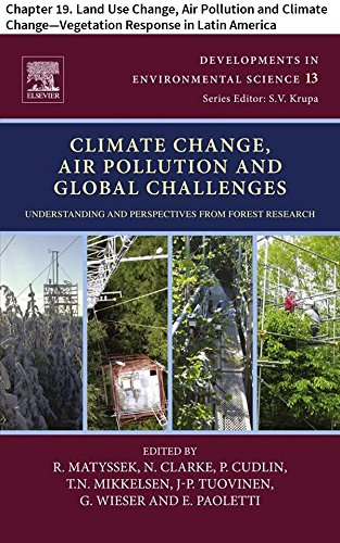 Climate Change, Air Pollution and Global Challenges: Chapter 19. Land Use Change, Air Pollution and Climate Change—Vegetation Response in Latin America ... Science Book 13) (English Edition)