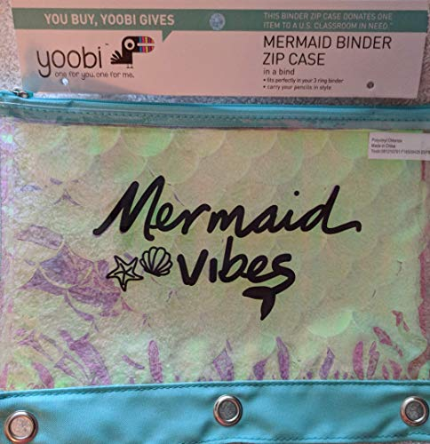 1-Zipper Binder Pencil Case Mermaid Vibes - Yoobi™