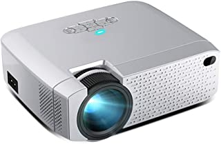 Mini 1080P Video Projector for Portable Wireless WiFi Same Screen, Portable LED Media Player for 3D Home Theater