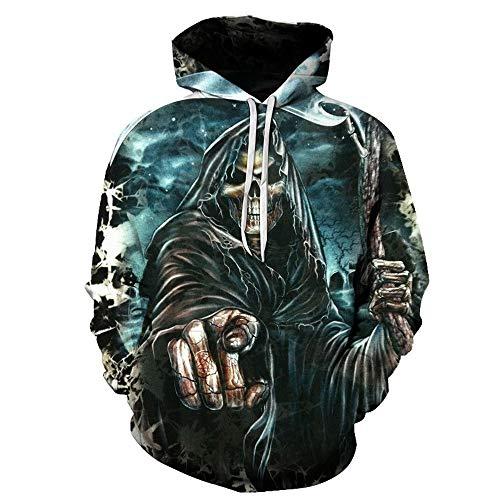 XUJIN Unisex 3D-bedruckter Hoodie Cooler Leichter Pullover mit Kapuze/Kind Erwachsener Eltern-Kind-Anzug,Q,L