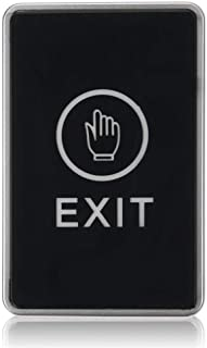 Push Touch to Exit Button Security Access Control System Door Exit Release Switch Panel With LED Indicator Light organic g...