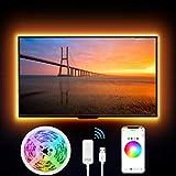 Striscia Led RGB Intelligente, Gosund 2.8M Retroilluminazione Impermeabile Nastro Luminoso LED Multicolor Compatibile con Alexa/Google Home, Nastro LED USB per HDTV da 40-60 Pollici con APP Control