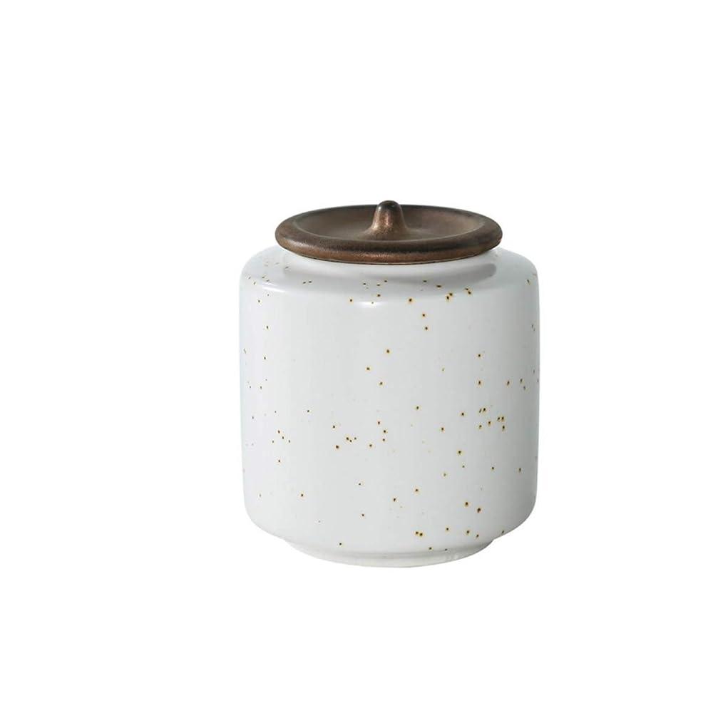 入射作者買うSHENGSHIHUIZHONG ペットの小箱、壷の缶、動物の棺桶、兼用、猫と犬の死のお土産、手作りのセラミックの密封された缶 (Color : White)