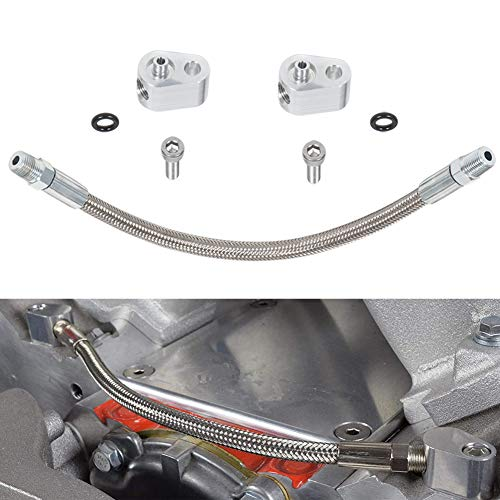 For LS Engine 3-Bolt DBC DBW Gen 3 Throttle Body Bypass Steel Braided Hose Kit Coolant Crossover Steam Tube Fit for LSX LS1 LM7 LR4 LQ4 LS6 L59 LQ9 LM4 L33 551694H