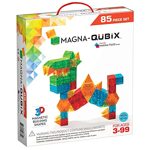 Magna-Qubix 85-Piece Set, The Original Magnetic Building Blocks For Creative Open-Ended Play, Educational Toys For Children Ages 3 Years +