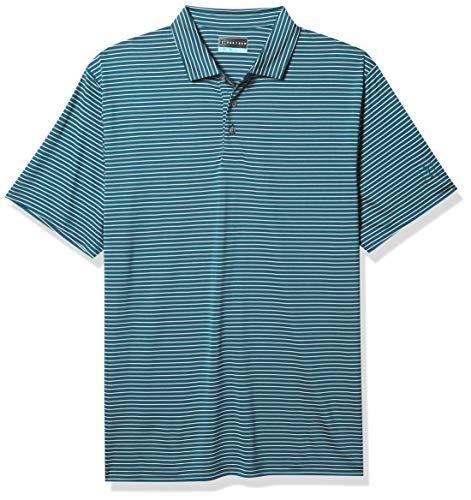PGA TOUR Herren Short Sleeve Feeder Stripe Polo Golf-T-Shirt, Untergetaucht, Large