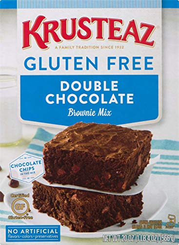 Krusteaz Gluten Free Double Chocolate Brownie Mix, 20-Ounce Boxes (Pack of 8)