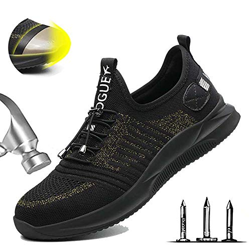 Heren lichtgewicht S3 veiligheidsschoenen werkschoenen sportieve veiligheidsschoenen met stalen neus luchtdoorlatend sneaker anti-smashing sneaker hiking schoenen