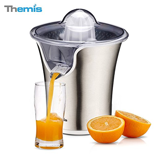 THEMIS CJ3372 85W Powerful Stainless Steel Citrus Juicer Snap-up Spout Electric Orange Juicer Juice Extractor-85W Motor