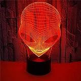 Luz de noche LED 3D Big Eyes Alien Figura de acción 7 colores Touch Optical Illusion Lámpara de mesa...