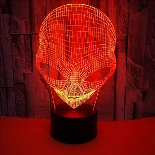 3D Luz de Noche 3D Lámpara LED Luz de Noche Grandes Ojos Planetas Alien Figura de Acción Táctil Decoración de Mesa Luz Óptica Ilusión ZGLQ