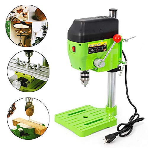 Find Bargain Mini Electric Bench Drill Press Stand Compact Portable Workbench Metal Drilling Repair ...