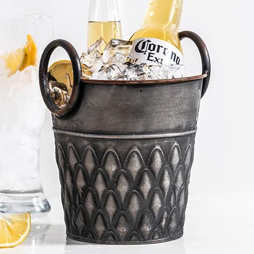 Retro escritorio almacenamiento hierro barril whisky champán cerveza cocina bar accesorios
