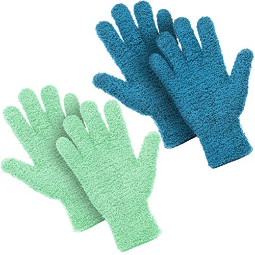 2 Pairs Microfiber Auto Dusting Cleaning Gloves Washable Cleaning...