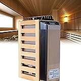 BIWAHumor Estufa Sauna Control Interno Y Externo Acero Inoxidable, Calentador Sauna Acero Inoxidable de Vapor Doméstico, Sistema de Control Sauna Seco Estufa de Sauna