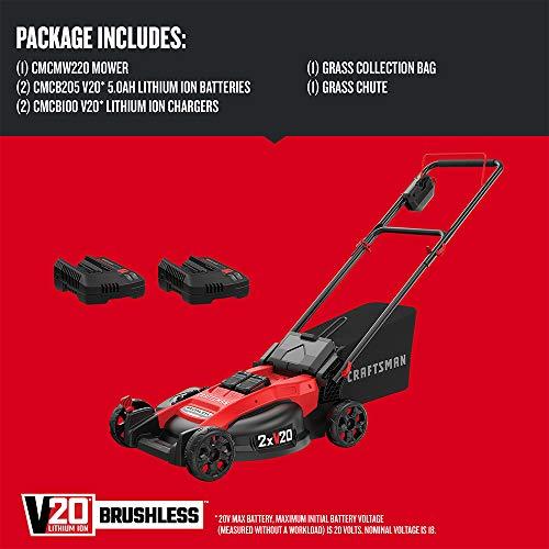 CRAFTSMAN CMCMW220P2 V20 2x20V 20 in. Brushless Cordless Push Mower