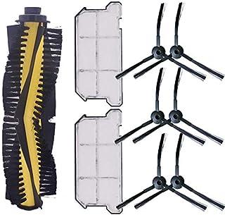 1x Filtro primario 8X cepillos Laterales 8X filtros DingGreat Kit Accesorios de Recambio para ILIFE A4s Aspirador Piezas de Repuesto Incluye 1x Cepillo Principal