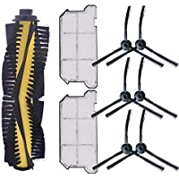 TOOGOO 1 X Cepillo Principal 6 X Cepillo Lateral 2 X Filtro Hepa una Prueba de Polvo para Ilife V7 V7S V7S Pro Robot Aspiradora Repuestos de Repuesto