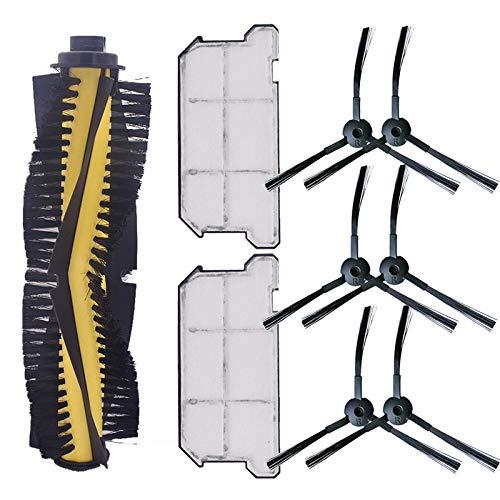 REFURBISHHOUSE 1 X Cepillo Principal 6 X Cepillo Lateral 2 X Filtro Hepa una Prueba de Polvo para Ilife V7 V7S V7S Pro Robot Aspiradora Repuestos de Repuesto