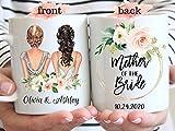 DKISEE - Taza de regalo para madre de la novia, cerámica, blanco, 15 oz
