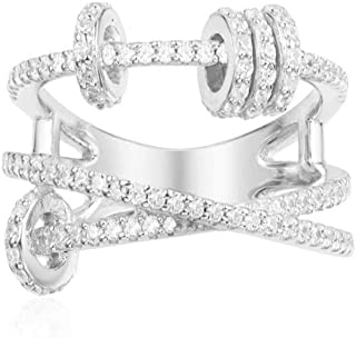 EJjewelry Tailored for Women Silver Trio Ring with Sliding Rings apm/Monaco