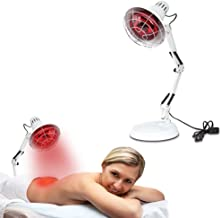 New 150W Near Infrared Light Red Light Therapy Heat Lamp Set for Body Muscle Joint Pain Relief with Improve Sleep Blood Circulation Back Shoulder Finger Pain Home Serfory 110V