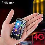 JJA 2019 Melrose S9 Plus Super Mini Pocket Smartphones Playstore 4G LTE Ultra Delgado Teléfono móvil Android 7.0 Teléfono móvil 2.45 Pulgadas 2GB 8GB Negro Batería incorporada Diseño Elegante