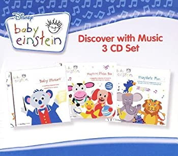 Baby Einstein - Discover with Music  3 CD Set  56 Songs - Includes Baby Mozart Playtime Music Box-A Concert for Little Ears Playdate Fun-A Concert for Little Ears