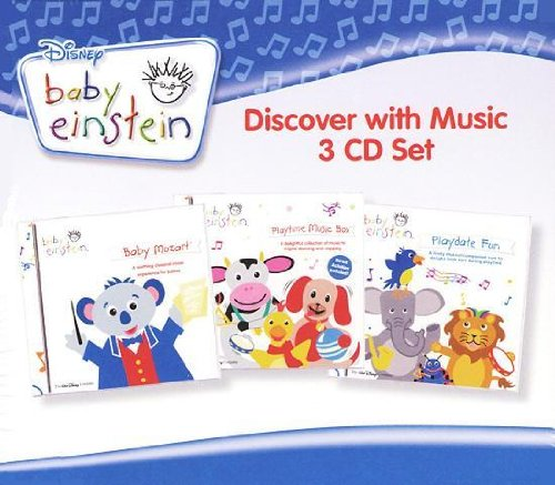 Baby Einstein - Discover with Music (3 CD Set) 56 Songs - Includes Baby Mozart, Playtime Music Box-A Concert for Little Ears, Playdate Fun-A Concert for Little Ears