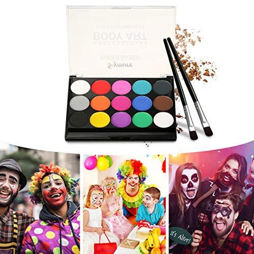 Skymore Pintura Facial, Juego de Maquillaje Para Niños, Maquillaje Para Cuerpo Professionale,...