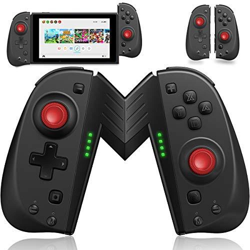 ECHTPower Wireless Controller for Nintendo Joycon Switch, Macro Button/Turbo/Vibration/Motion Functions, L/R Switch Controller Joypad, Wireless Controllers for Nintendo Switch (Black and Red)