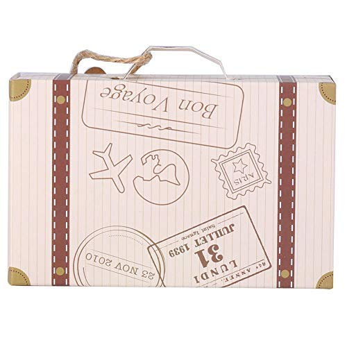 MAGT Caja Maleta Regalo, 50pcs/Set Mini Caja Maleta Carton Maleta Elegante Caja de cartón portátil Caja de Dulces Novela Caja Grande Carton Regalo para el cumpleaños del Banquete de Boda