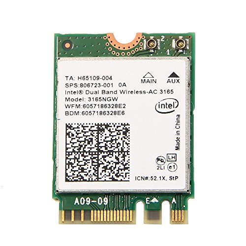 Intel 3165 3165NGW 3165AC Dual-Band Wireless AC + Bluetooth4.0 Mini NGFF WLAN Karte 802. 11ac 3165 Wireless WiFi-Karte