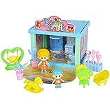 Mxtech Juguete de Bricolaje, baño de muñecas portátil Duradero amueblado hábilmente, Juguete de casa de muñecas al Aire Libre Exquisita Mano de Obra para niños