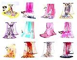 10 chiffon silk-feel silky scarves wholesale bulk summer spring
