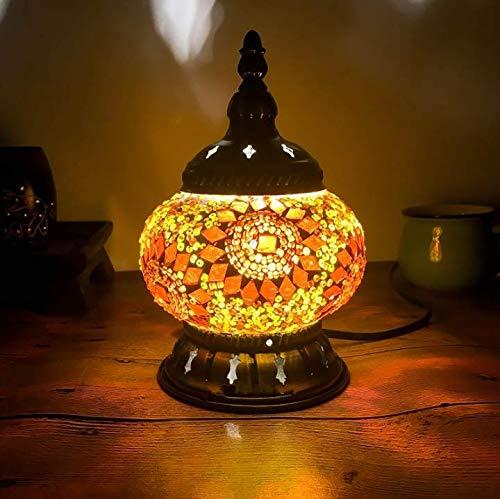 Lámpara de mesa de mosaico turco Lámpara de cama romántica Art Déco vintage Lámpara de cama romántica