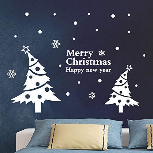 Adesivo Murale Di Buon Natale Albero Di Natale Home Shop Vetrofanie Decorazioni Natalizie Per La Casa 50X50Cm