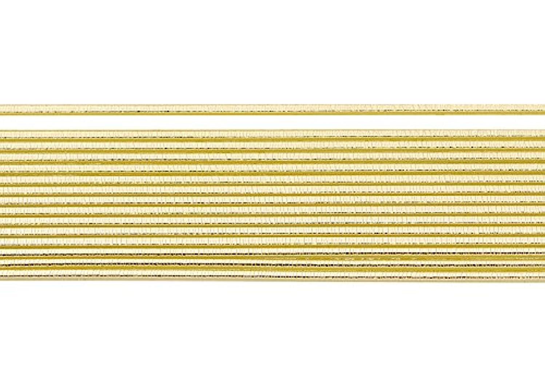 Knorr Prandell 3 mm x 20 cm 10-Piece Decorative Wax Stripe with Round Structure, Gold